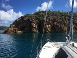 Moored by the Treasure Caves on Norman Island